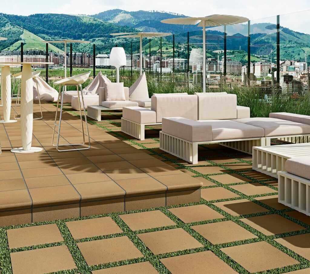 Suelos exterior terraza y jardin - Serie Denia